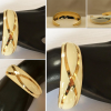 cream and gold cuff bracelet collage