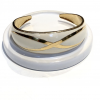 cream and gold cuff front