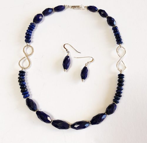 Lapis necklace and earrings