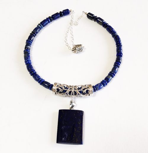 Lapis necklace and pendant