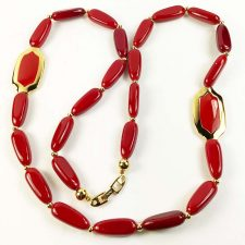 Napier long red necklace