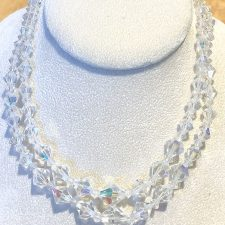 Two strand crystal necklace